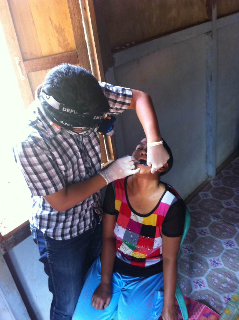 Dental care during mobile clinic