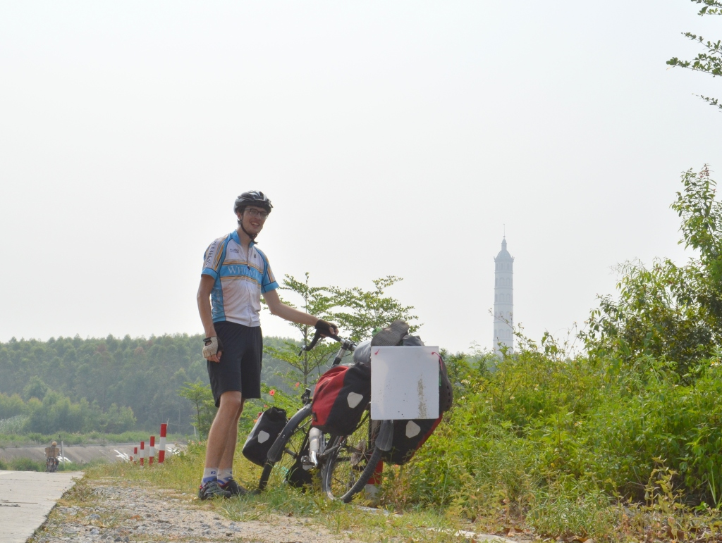 I did not anticipate that road selfies would be so complicated. Here's me, deep in the Guangxi countryside, in front of what I'm pretty sure was a mosque.
