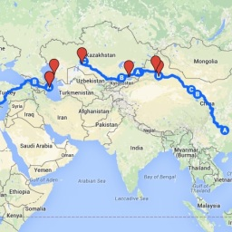 Help Fill in the Map of the 360 By Bike Silk Road Tour